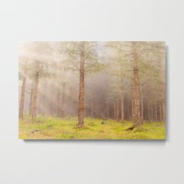 Scottish forest watercolor painting #1 Metal Print