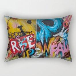 Urban Street Art: RISE & FALL Rectangular Pillow