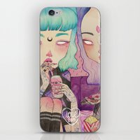 loll3 iPhone & iPod Skins featuring Pizza Party by lOll3