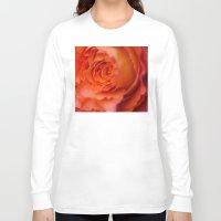 peony Long Sleeve T-shirts featuring peony by studiomarshallarts