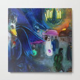 The Wedding by Marc Chagall Metal Print