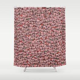 Christmas pigs Shower Curtain