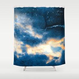 Celestial Grunge Clouds Shower Curtain
