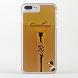 Animal Antics Clear iPhone Case