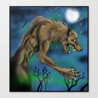 werewolf Canvas Prints featuring Werewolf  by Furiarossa