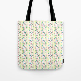 Rectangle and abstraction 4-mutlicolor,abstraction,abstract,fun,rectangle,square,rectangled,geometry Tote Bag