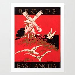 retro iconic East Anglia poster Art Print