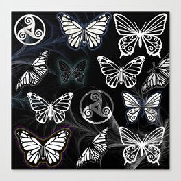 Butterfly Dreams in Black Canvas Print