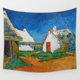 Three white cottages in Saintes-Maries by Vincent van Gogh Wall Tapestry