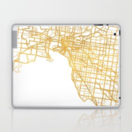 MELBOURNE AUSTRALIA CITY STREET MAP ART Laptop & iPad Skin