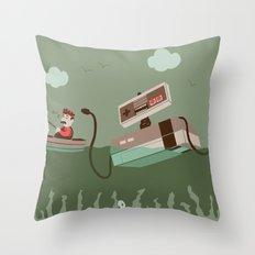 Loch NES V.2 Throw Pillow