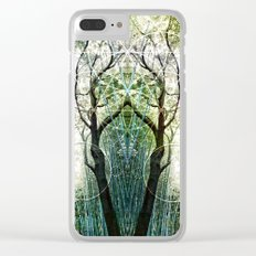 Bamboo Forest Geometry Clear iPhone Case