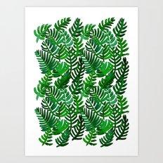 Round Palm Green Art Print