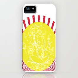 May your happiness be as large as Ganesh's appetite   Hindu Blessings iPhone Case
