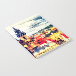 Prague Church Of Our Lady Before Tyn Watercolor Notebook