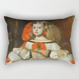 "Diego Velázquez ""Infanta Margarita Teresa in a Silver Dress"" Rectangular Pillow"