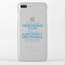 Aircraft Mechanic Clear iPhone Case
