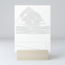 Sawdust Is Man Glitter Woodworker And Carpenter Gift Mini Art Print