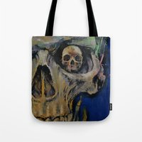 vampire diaries Tote Bags featuring Vampire by Michael Creese