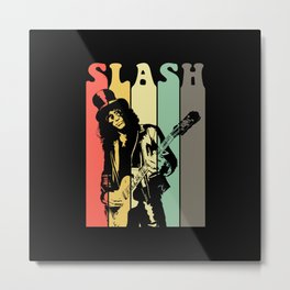Slash Retro Metal Print