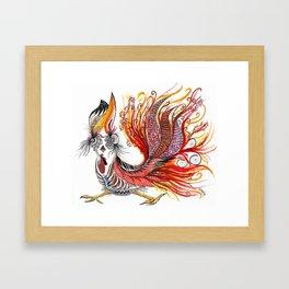 Dreamy Rooster Framed Art Print