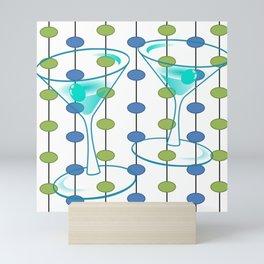 Mid-Century Modern Atomic Art Cocktails 1.0 Mini Art Print