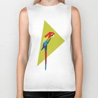 parrot Biker Tanks featuring parrot by William
