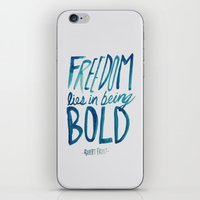 freedom iPhone & iPod Skins featuring Freedom  by Leah Flores