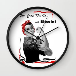Rosie Riveter - We can do it... with Bitcoin! Wall Clock