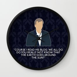 The Great Game - Greg Lestrade Wall Clock
