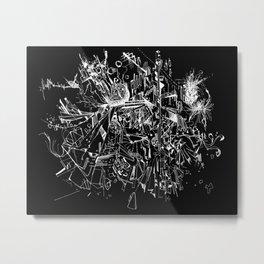 Geometry in Space (Black) Metal Print