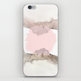 Pale Pink on Mountains iPhone Skin
