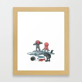 Which Plug to Pull? Framed Art Print