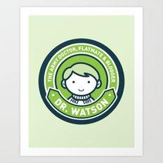 Cute John Watson - Green Art Print