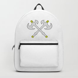 Drawing cartoon of a battle axe Backpack