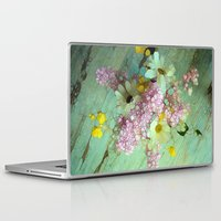 andreas preis Laptop & iPad Skins featuring country flowers by Joke Vermeer