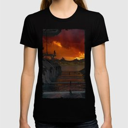 Drevos - Sci Fi - Sunset - Science Fiction - ZG 3D T-shirt