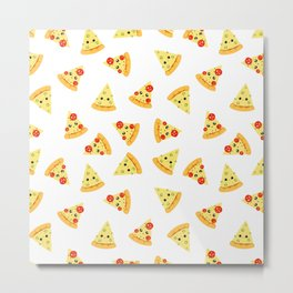 Cute pizza Metal Print