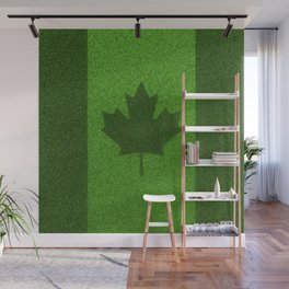Grass flag Canada / 3D render of Canadian flag grown from grass Wall Mural