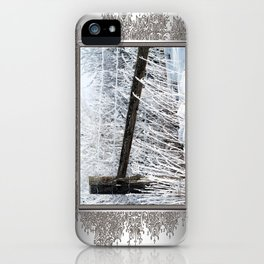 Hoar Frost on the Fence iPhone Case