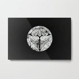 Uesugi Clan · White Mon · Distressed Metal Print