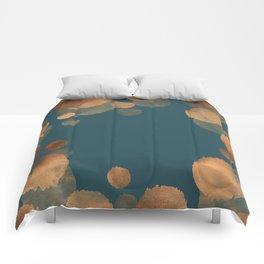 Metal Copper Dots on Emerald Comforters