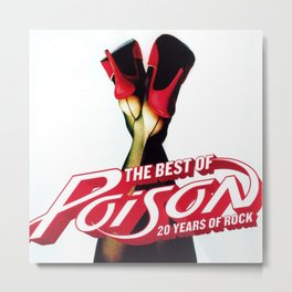 POISON 20 YEARS OF ROCK TOUR DATES 2019 TULIP Metal Print
