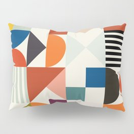 mid century retro shapes geometric Pillow Sham
