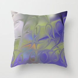 Smudged Colours 17 Throw Pillow