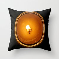 fifth element Throw Pillows featuring Element by cottoncandirazor