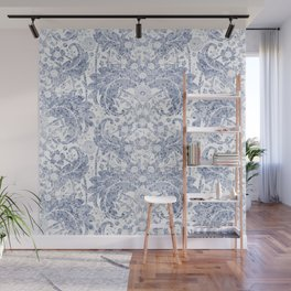 "Blue watercolor flower design ""Beata"" Wall Mural"