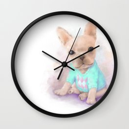 French Bull Dog Wall Clock