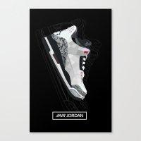 air jordan Canvas Prints featuring Air Jordan by Kamil Sypień