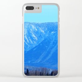 Chic-Choc Blue Mountains Clear iPhone Case